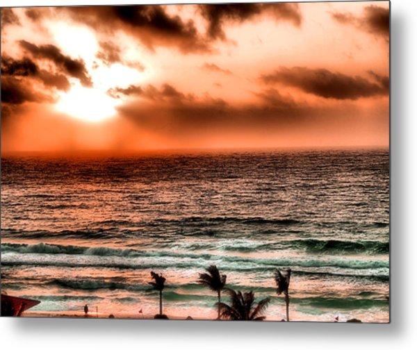 Cancun Sunrise 3 Metal Print
