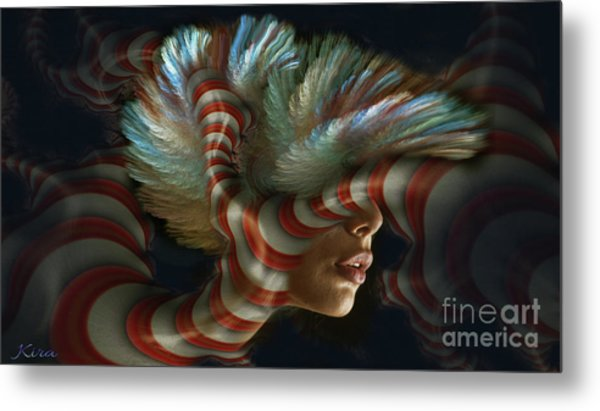 Candy Striper Metal Print
