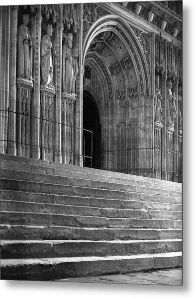 Canterbury Cathedral Choir Entrance Canterbury England Metal Print by Richard Singleton