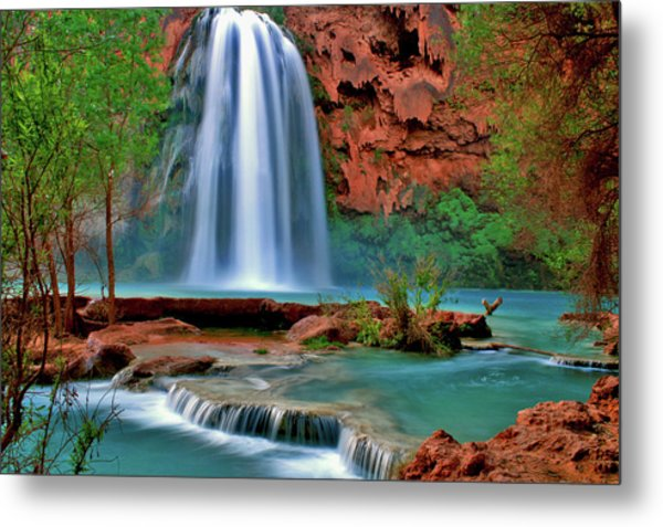 Canyon Falls Metal Print