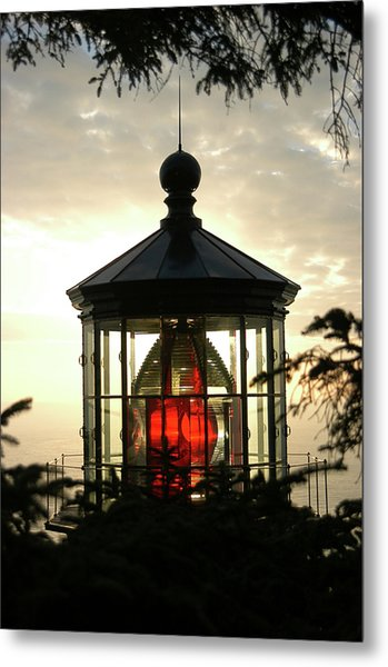 Cape Meares Lighthouse Metal Print