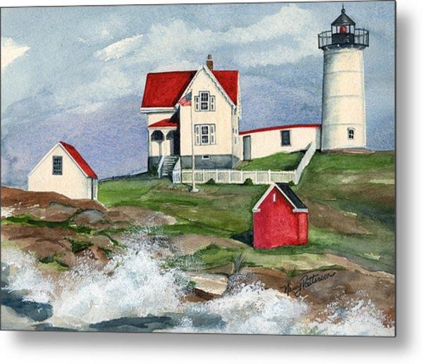 Cape Neddic Lighthouse  Metal Print