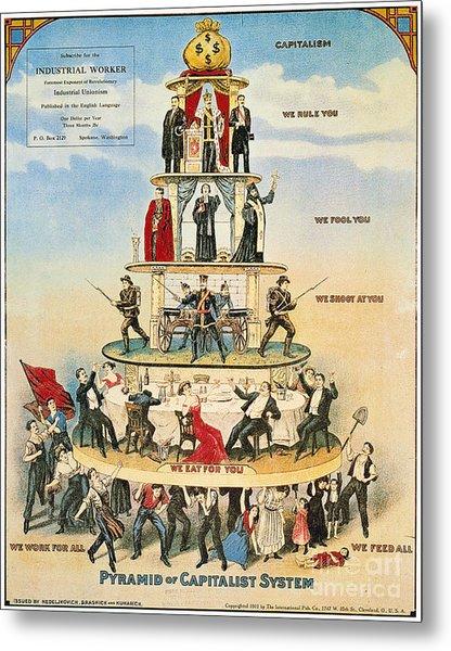 Capitalist Pyramid, 1911 Metal Print