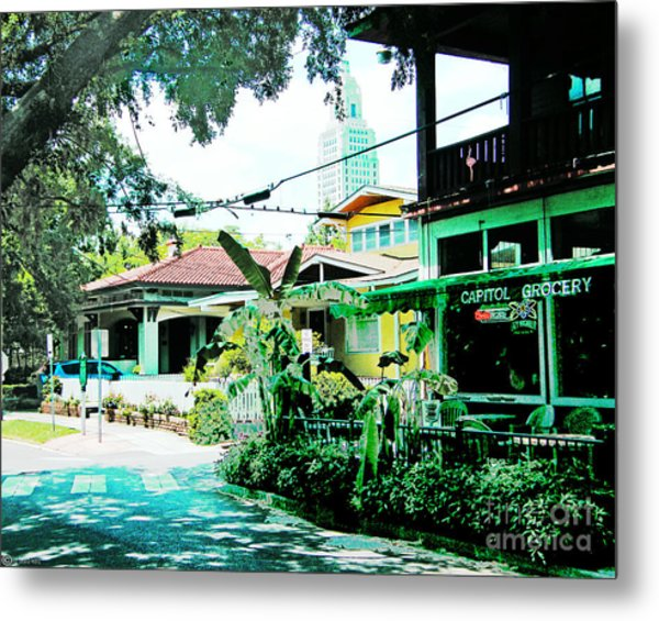Capitol Grocery Spanish Town Baton Rouge Metal Print