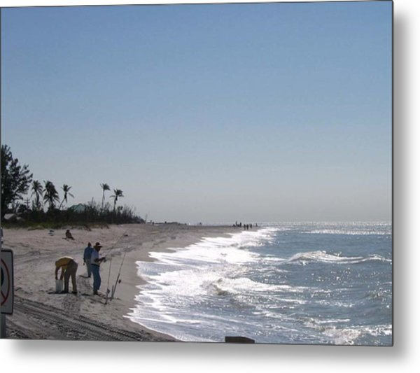 Captiva Surf Fishing Metal Print by Jack G  Brauer