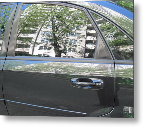 Car And Reflection Metal Print by Kostyantyn Serodkin