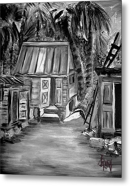 Caribbean Country House Metal Print by Laura Fatta