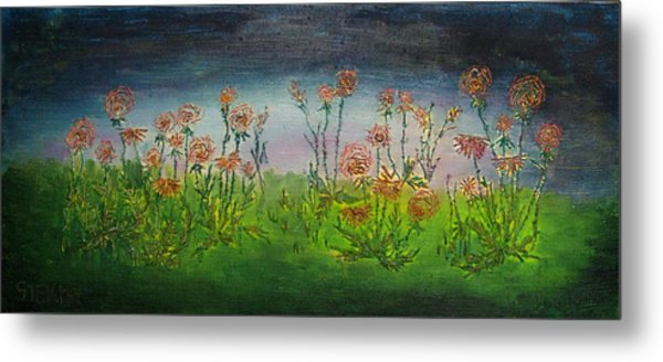 Carnations At Dusk Metal Print by Jacob Stempky