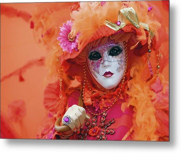 Carnival In Orange Metal Print