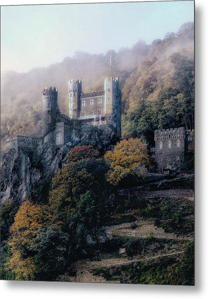 Castle In The Mist Metal Print