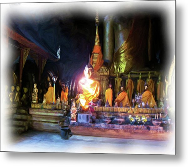 Cave Of The Bat Temple 3 Metal Print