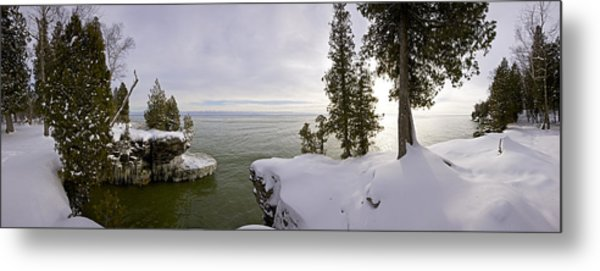 Cave Point Panorama Metal Print by Richard Steinberger