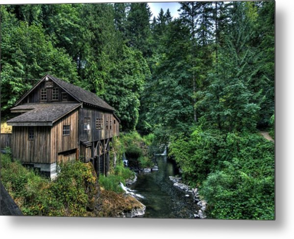 Cedar Creek Grist Mill Metal Print