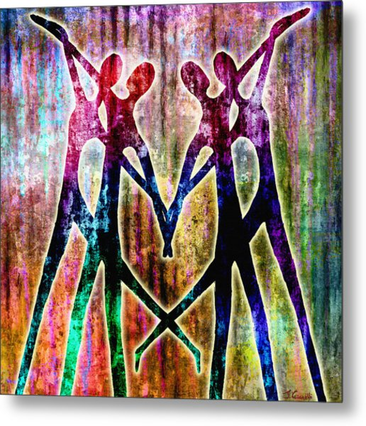 Metal Print featuring the mixed media Celebration by Jaison Cianelli