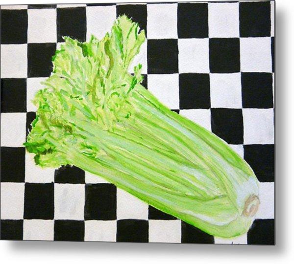 Celery Metal Print