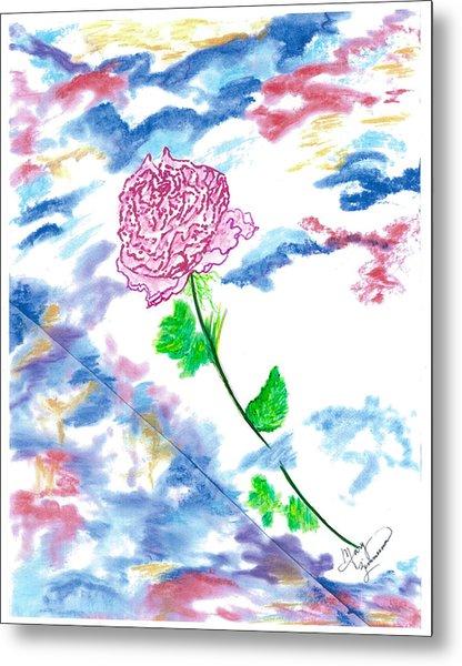 Celestial Rose Metal Print