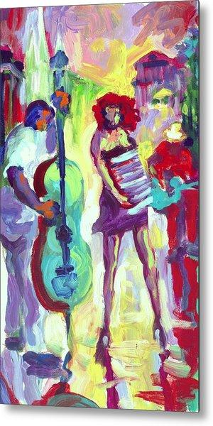 Cello Metal Print by Saundra Bolen Samuel