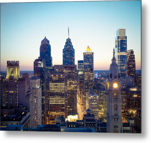 Center City Philadelphia Metal Print by Aaron Couture