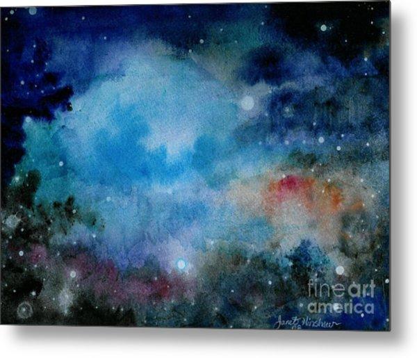 Cerulean Space Clouds Metal Print by Janet Hinshaw