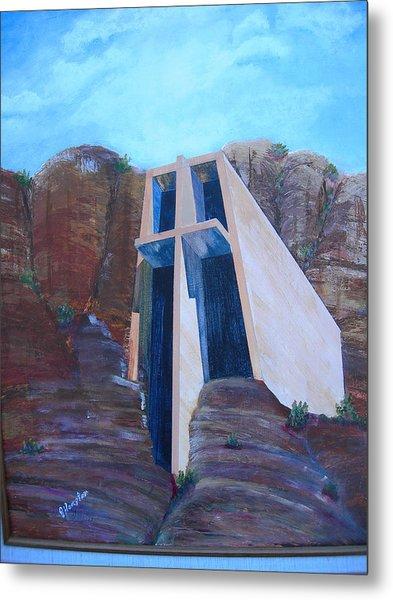 Chapel In The Mountains Metal Print by Jack Hampton