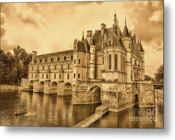 Metal Print featuring the photograph Chenonceau by Nigel Fletcher-Jones