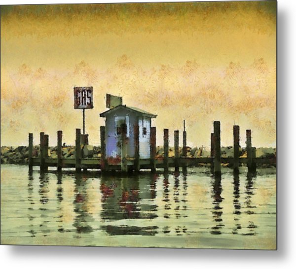 Chestertown Gas Dock Metal Print