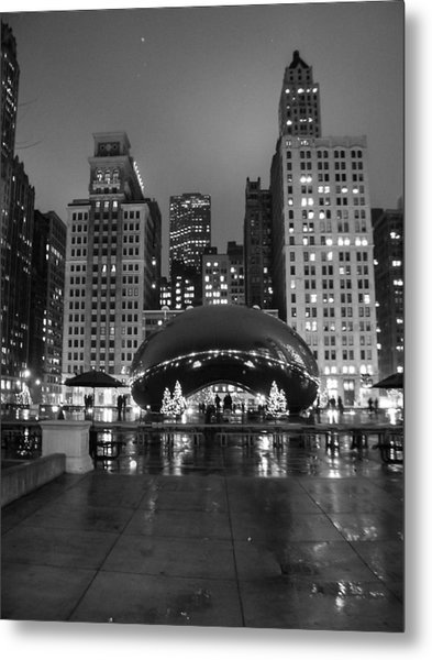 Chicago's Bean Metal Print