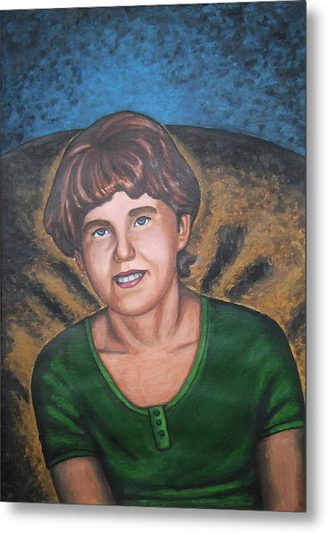 Children Portrait Paintings  Metal Print