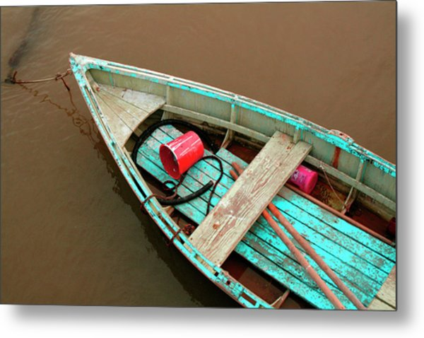 China Camp Boat Metal Print