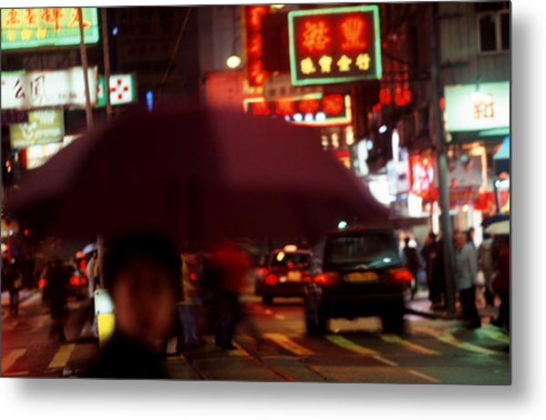 China Street Scene Hong Kong Metal Print by Brad Rickerby