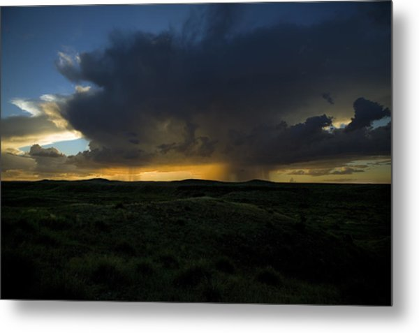 Chinati Storm Metal Print by Clyde Replogle