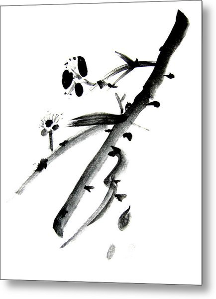 Chinese Brush L Metal Print by Danny Pike