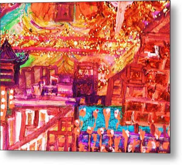 Chinese If You Please New Year Metal Print by Anne-Elizabeth Whiteway
