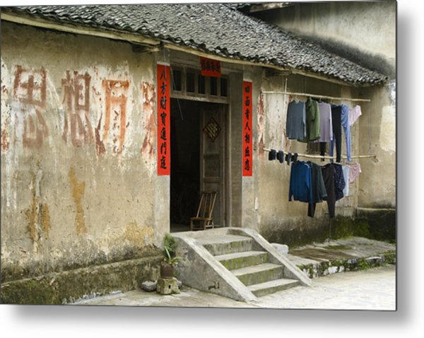 Chinese Laundry Metal Print