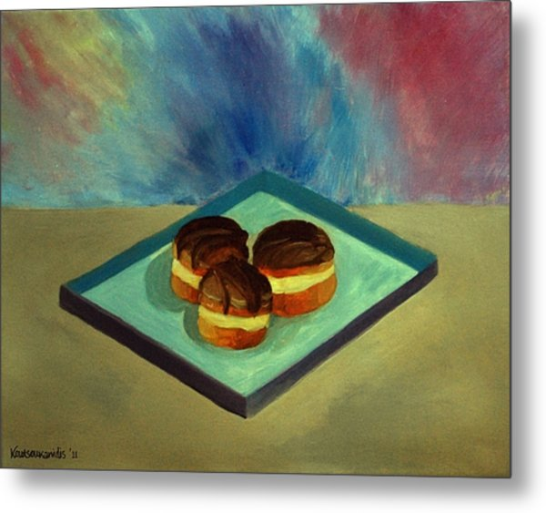 Chocolate Cakes Metal Print by Kostas Koutsoukanidis