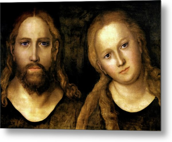 Christ And Mary Metal Print by Lucas Cranach the Elder