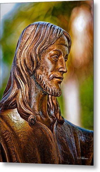 Christ In Bronze Metal Print