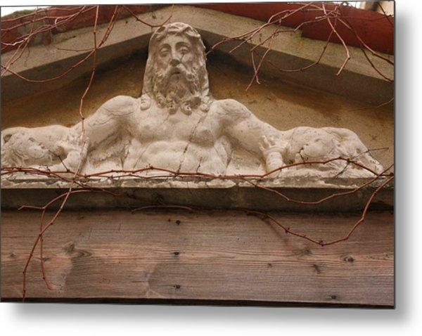 Christ On Shrine In Venice Metal Print by Michael Henderson