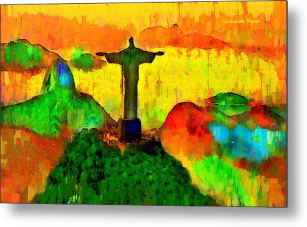 Christ The Redeemer In Rio 1 - Da Metal Print