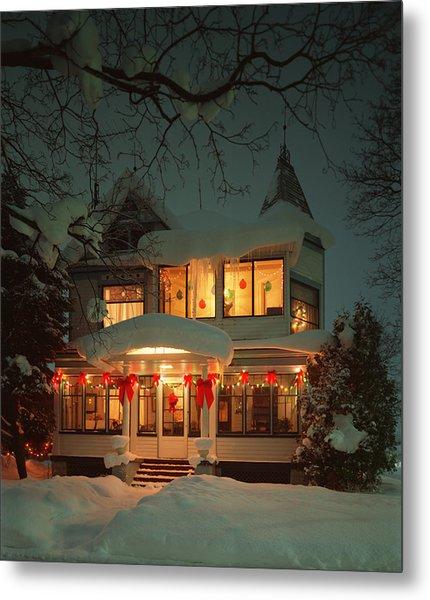 Christmas House Metal Print