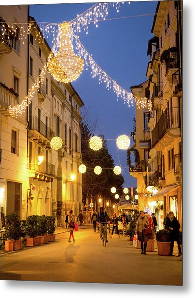 Christmas In Vicenza Italy Metal Print