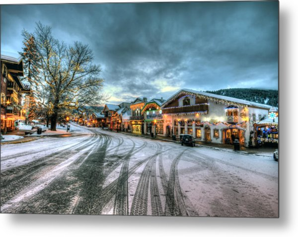 Christmas On Main Street Metal Print