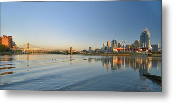 Cincinnati Riverfront Panorama Metal Print