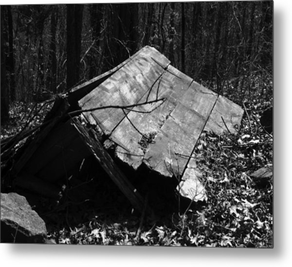 Cindy Outhouse Metal Print by Curtis J Neeley Jr