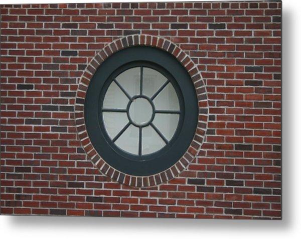 Circle Window Metal Print by Dennis Curry