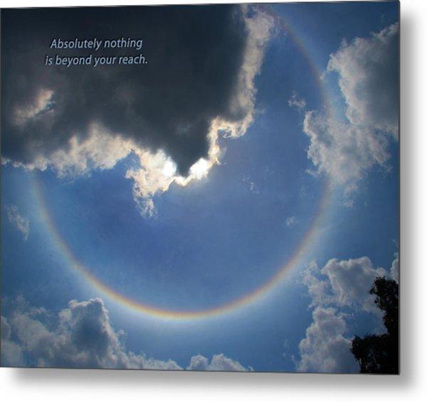 Circular Rainbow Inspiration Metal Print