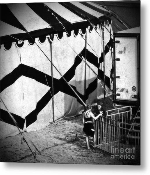 Circus Conversation Metal Print