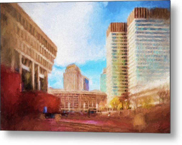 City Hall At Government Center Metal Print