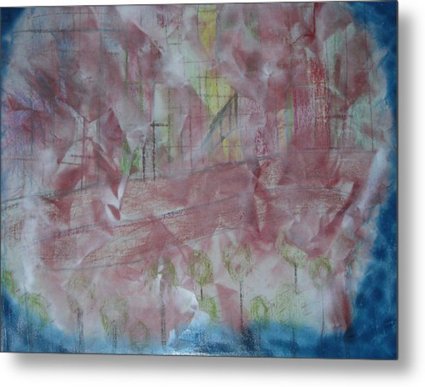 City In Blue Metal Print by Russell Simmons