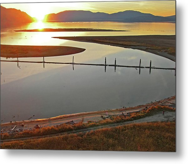 Clark Fork Delta Metal Print by Jerry Luther